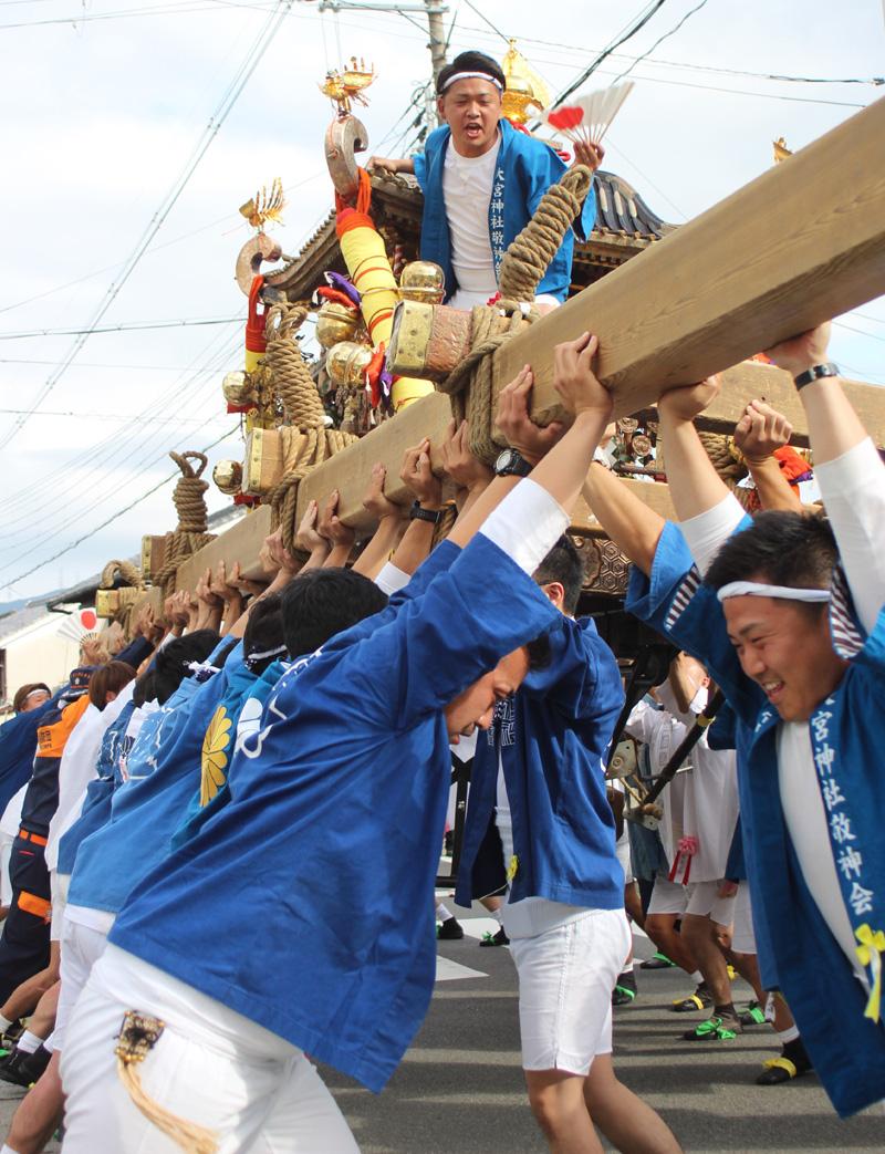 三社祭 神輿が町を彩る/宇治田原町