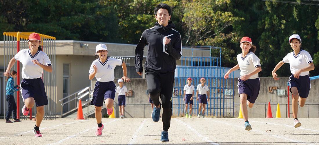 五輪選手の胸借りよう!!/京田辺市立薪小