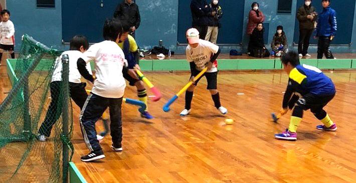 5人制で競技普及を/京都山城インドアホッケー大会