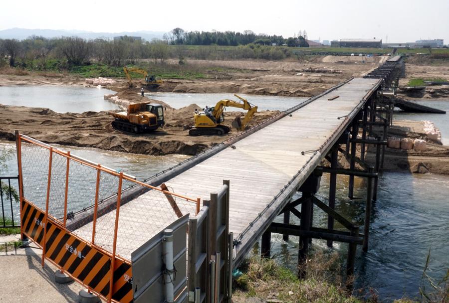 GWまでに復旧見込み/久御山・八幡間の「流れ橋」