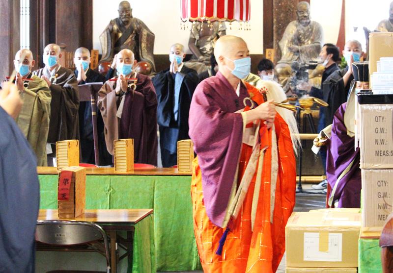 コロナ撲滅へ マスク提供/黄檗文化促進会など