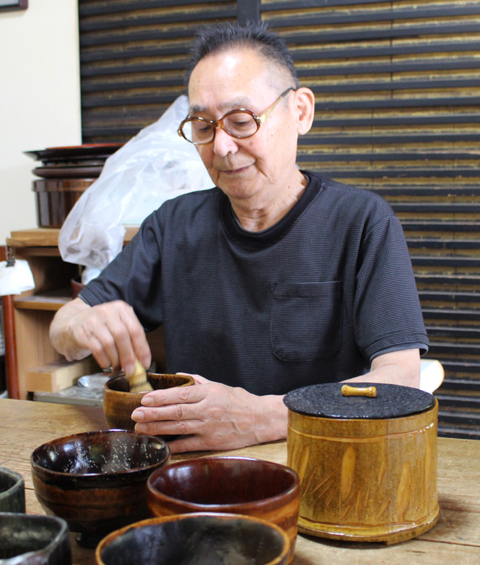 風流です「竹根茶わん」/宇治・県神社
