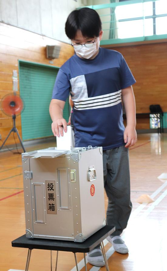 「税」と「選挙」府内初のコラボ授業/井手小