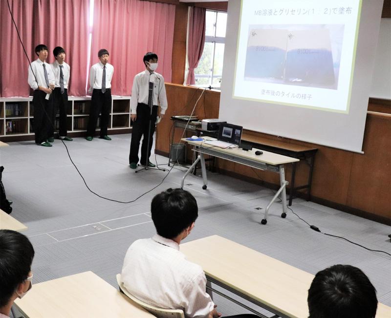 光触媒の実験発表/西城陽高「サイエンスプロジェクト」