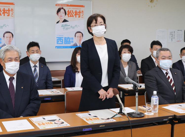 松村淳子氏が立候補表明/宇治市長選