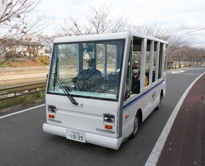 EV試験走行スタート/久御山