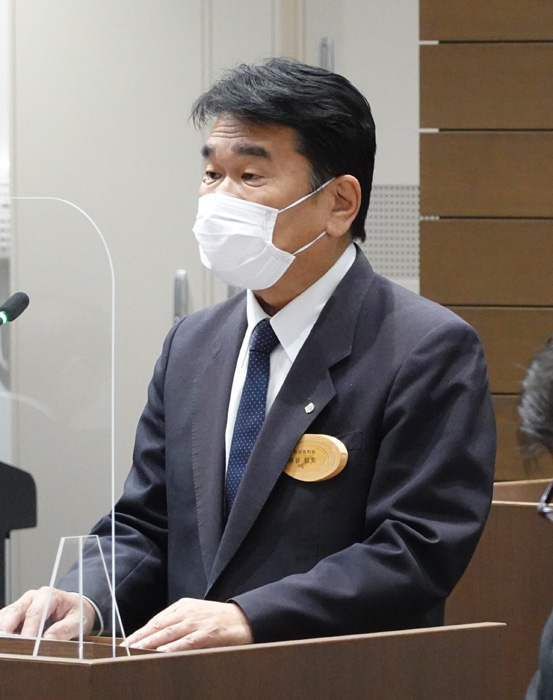 西谷氏が3選出馬を表明/宇治田原町長選