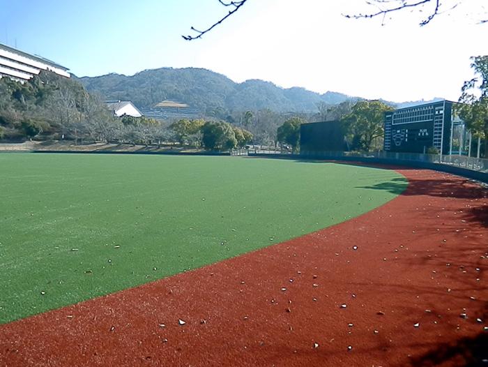 野球場をリニューアル/宇治市黄檗公園