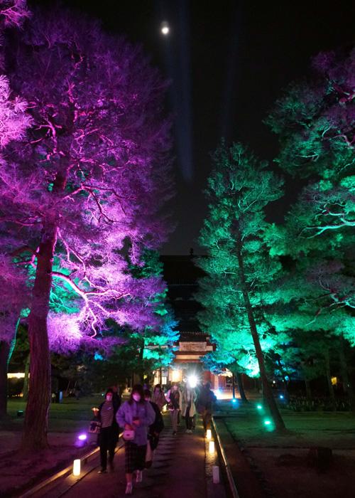 境内に幻想的な光/萬福寺ランタン
