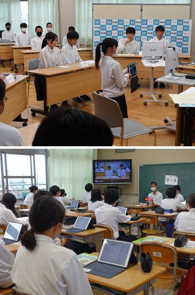 ICTフル活用 双方向で生徒会総会/久御山中