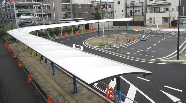 停車スペースまで屋根設置/城陽・近鉄寺田駅西側広場