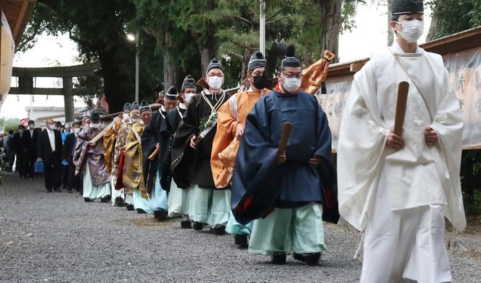 古式ゆかしく還幸祭/久御山・玉田神社